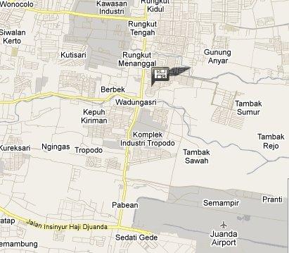 Map to Da Rifi Hostel