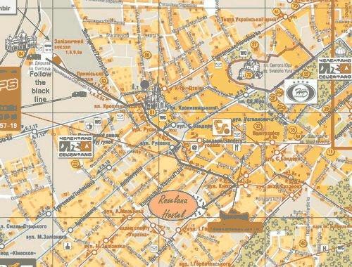 Map to Hostel Roxelana