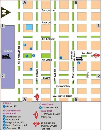 Map to Hotel Girasoles