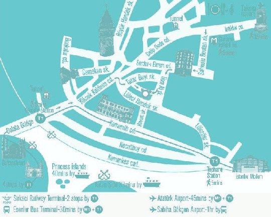 Map to Sumo Cat Hostel