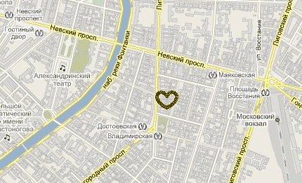 Map to Babushka House